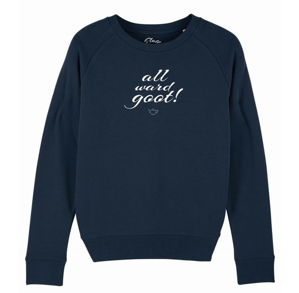 Sweatshirt Deerns - All ward goot! - Navy Blau