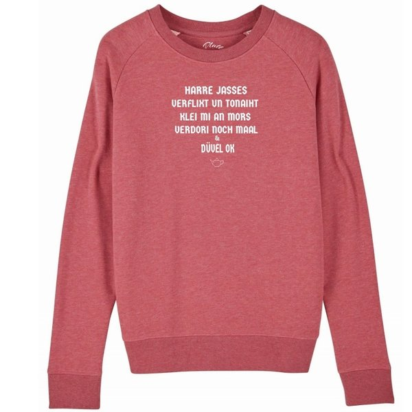 Sweatshirt Deerns - Harre Jasses - Cranberry Pink meliert