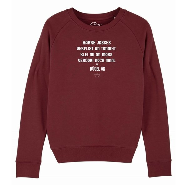 Sweatshirt Deerns - Harre Jasses - Weinrot