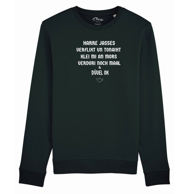 SWEATSHIRT Keerls - Harre Jasses! - Schwarz