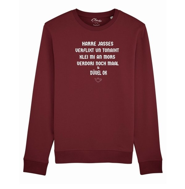 SWEATSHIRT Keerls - Harre Jasses! - Weinrot