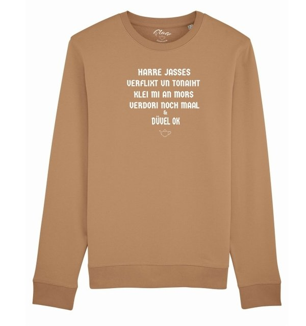 SWEATSHIRT Keerls - Harre Jasses! - Beige