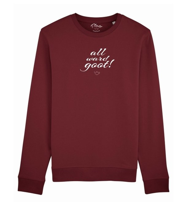 SWEATSHIRT Keerls - All ward goot! - Weinrot