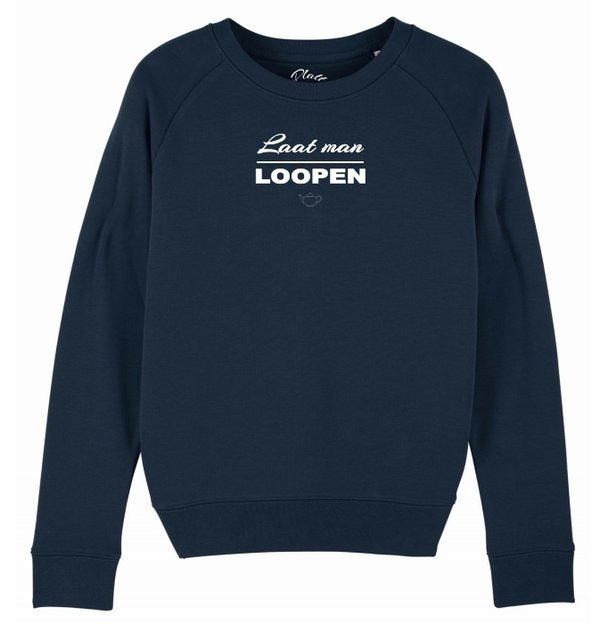 Sweatshirt Deerns - Laat man Loopen - Navy blau